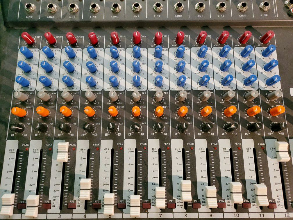 Professional mixers with 12 channels